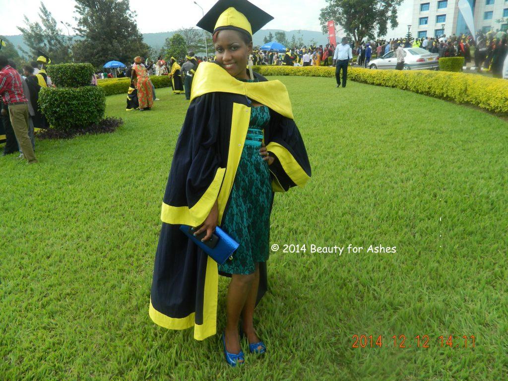 Mireille on her Graduation Day!