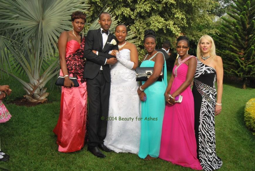 Mireille, Eric, Redempta, Alice, me and my Mom Glori