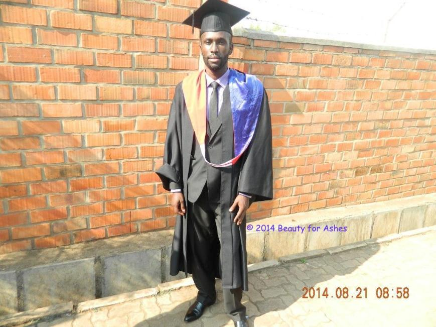 Gilbert on his graduation day.
