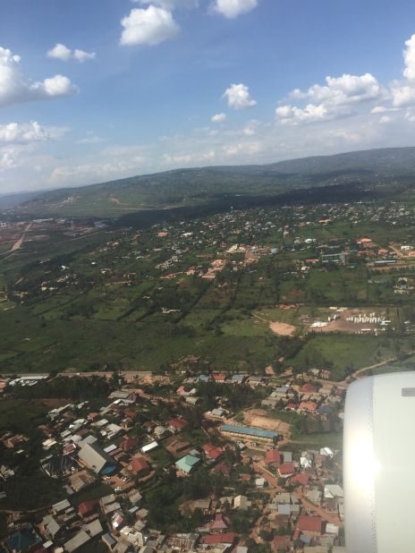 Descent into the Kigali International Airport, Kanombe