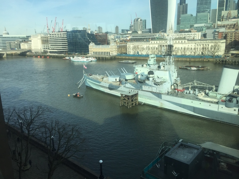 The view of the River Thames from my office building