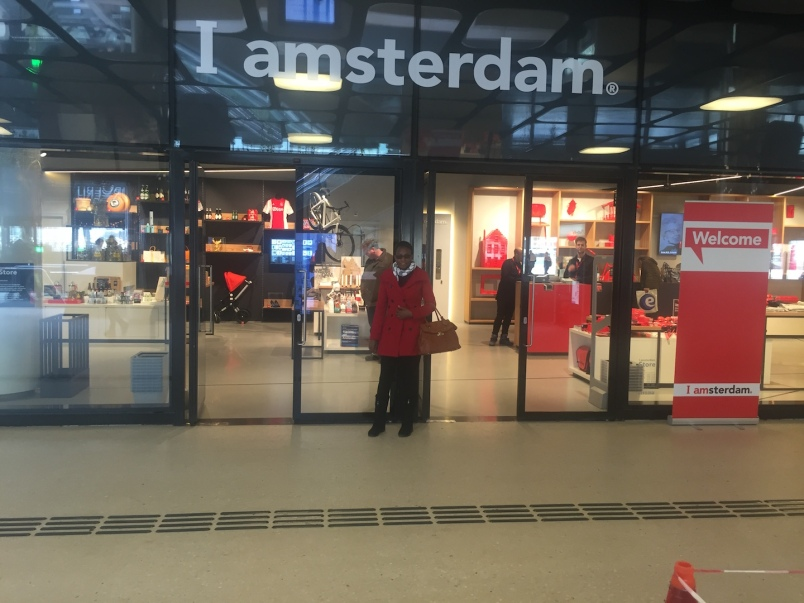 The sign says it all ;). I enjoyed touring the city of Amsterdam